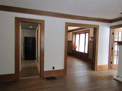 Doorways from living room.