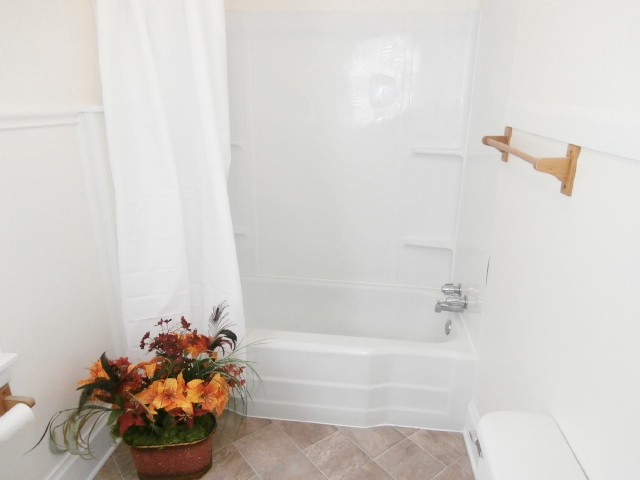 Bath view of bathtub.