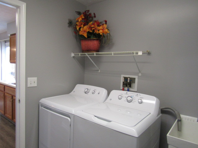 Clothes washer & dryer.
