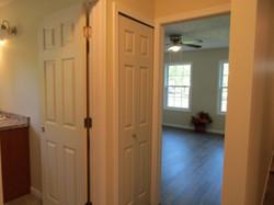 Bath entry, hall linen closet, front bedroom.
