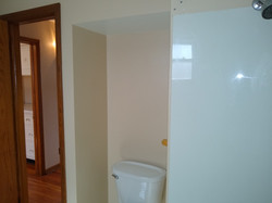 Bathroom with view of hall