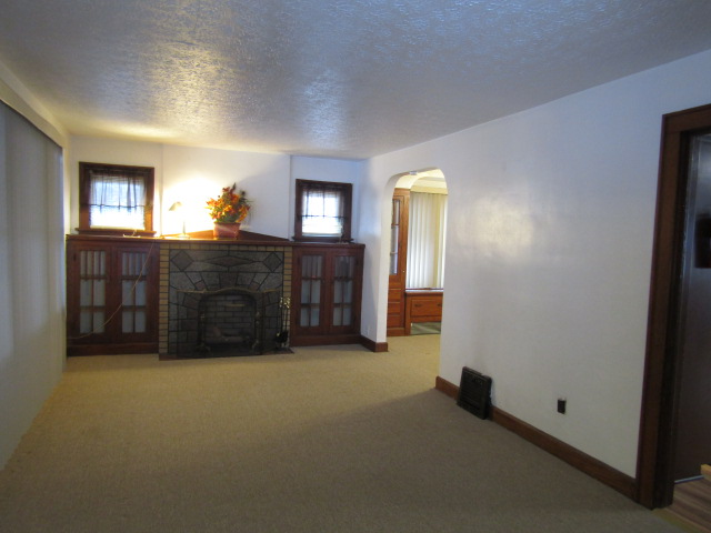 Living room - decorative fireplace