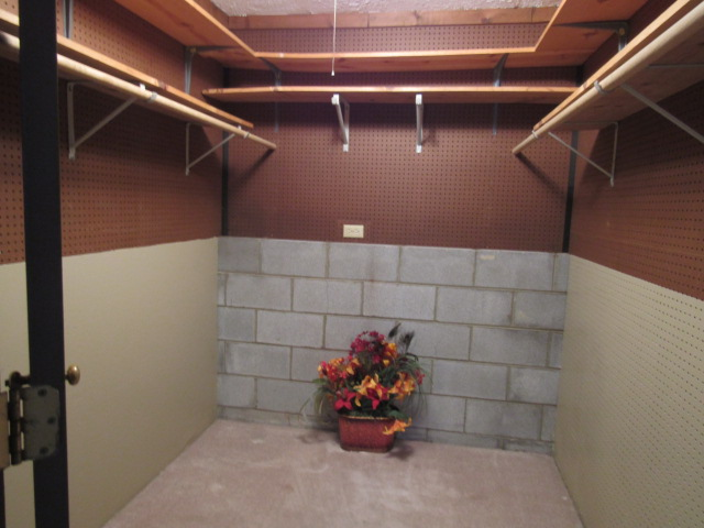 Lower level walk in closet