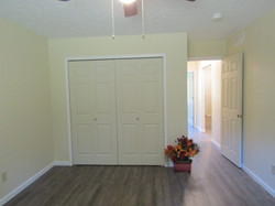 Rear bedroom with 8' closet