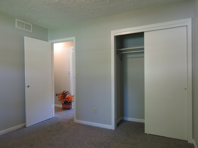 Bedroom at front end of house