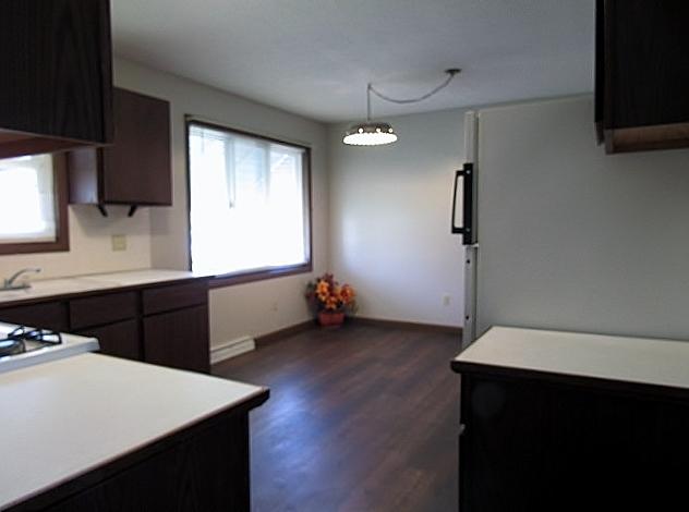 Kitchen / dinette has laminate floors