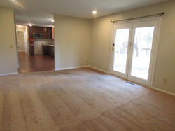 Rec Room - view of kitchen & hall to garage