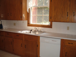 Kitchen view of sink side.