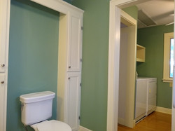 Hall bath view of laundry