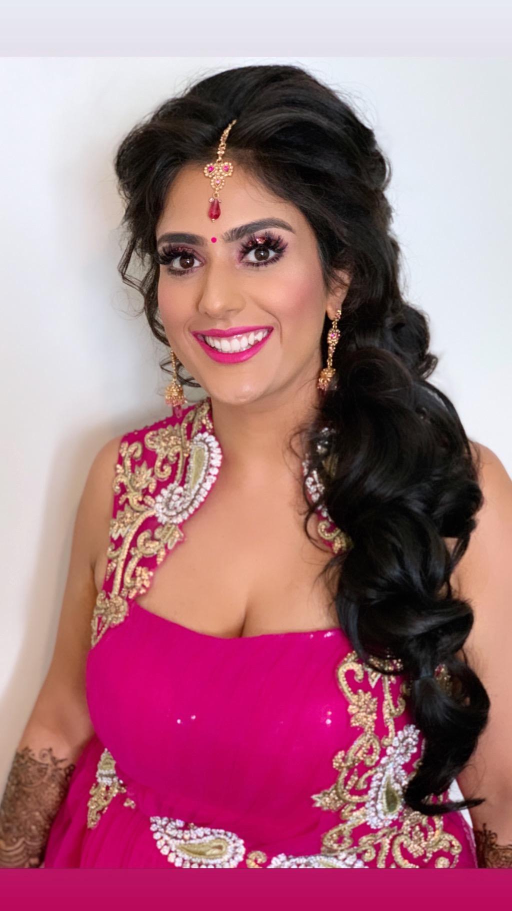 Mehndi bridal hair and makeup