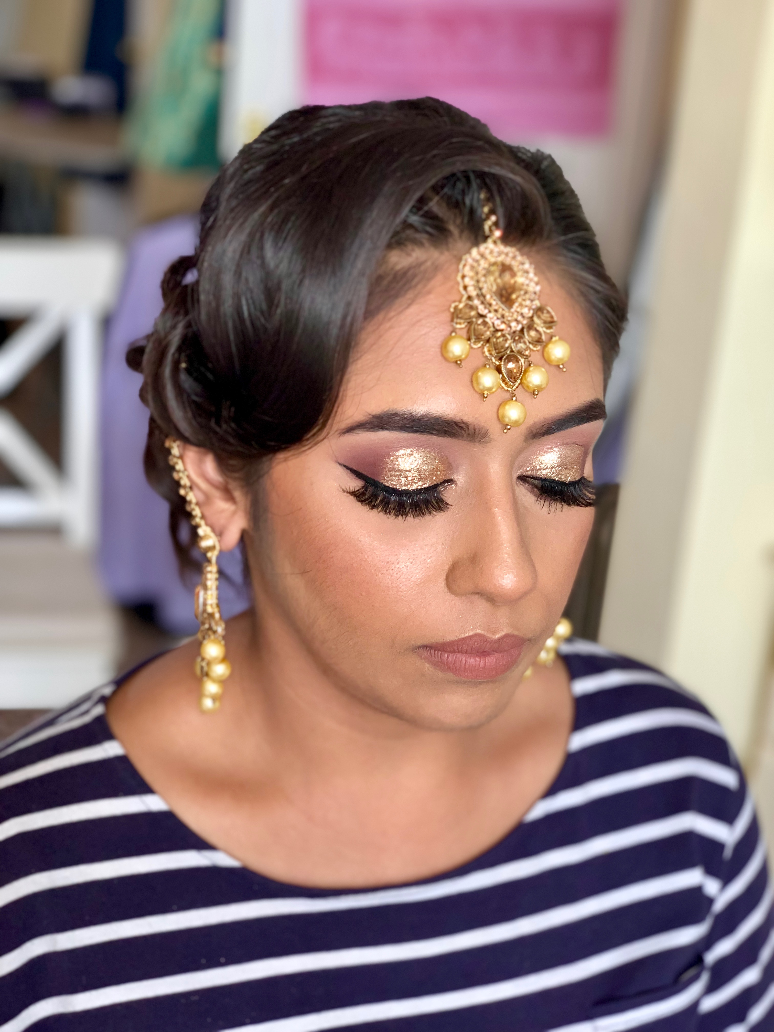 Party hair and makeup