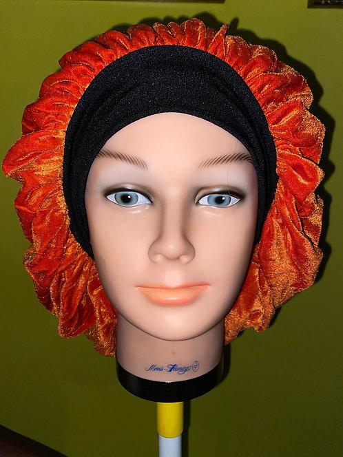 Urban Orange Velvet Bonnet