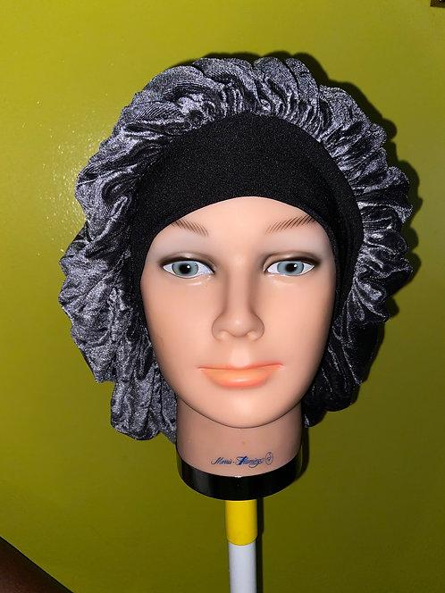 Urban Silver Velvet Bonnet