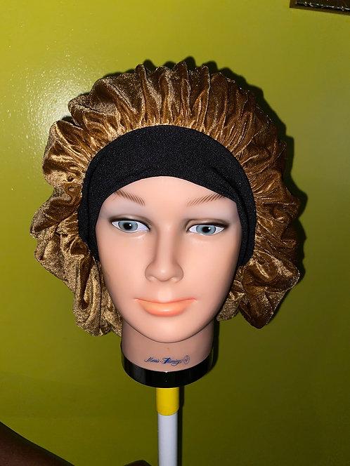 Urban Brown Velvet Bonnet