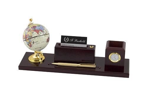 Луксозен комплект -глобус, визитник, моливник, часовник F.Bartholdi