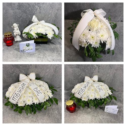 Голяма икебана / Пиафлора с аранжировка от цветя