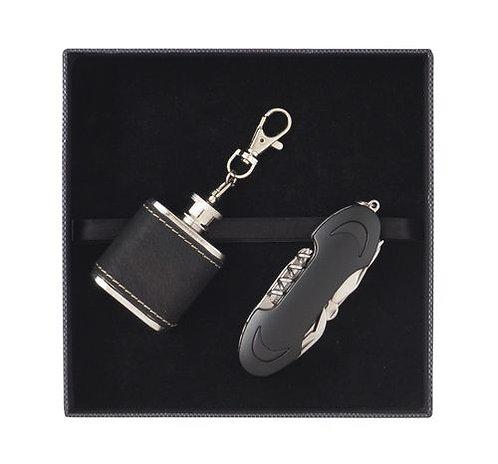 Комплект  джобно ножче и ключодържател-бутилчица F.Bartholdi
