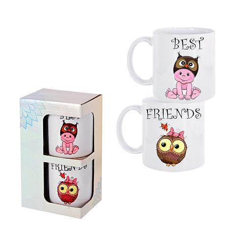 "Комплект 2 броя чаши ""Best / Friends"""