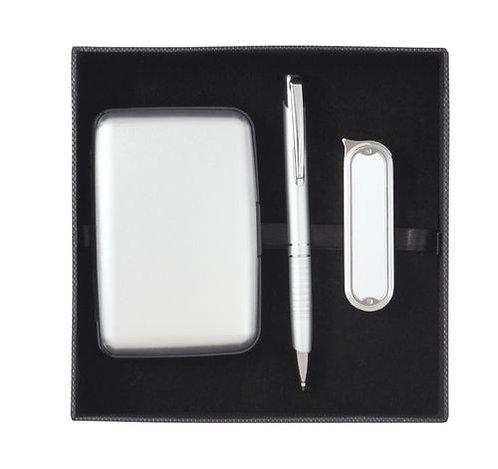 Комплект химикалка, калъфче и запалка F. Bartholdi