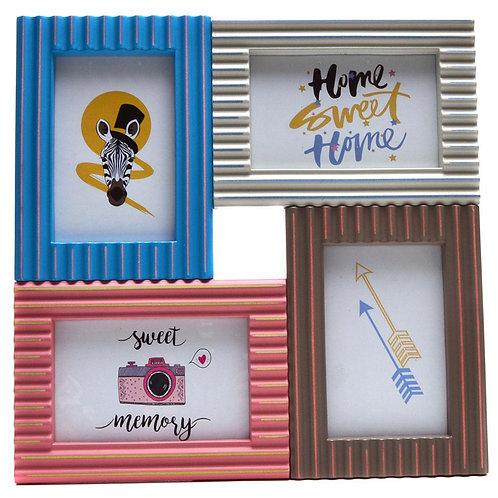 Релефна цветна рамка с 4 Ваши снимки