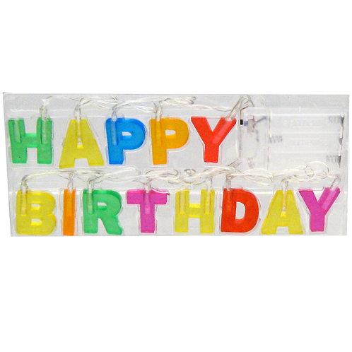 Светещ банер Happy birthday