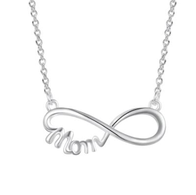 Колие символ на безкрайността  МОМ сребро 925 Sterling Silver в луксозна кутийка