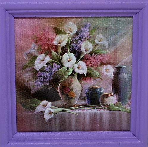 Картина с цветя (11.5/11.5 см)