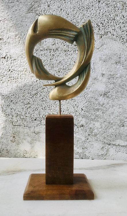 ПОЛЕТ, 25/11/6 cm, бронзова скулптура, Автор: Стойчо Никифоров