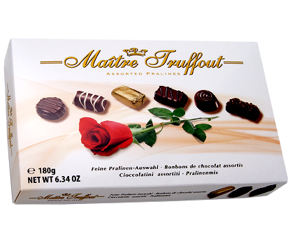 Бонбониера MAITRE TRUFFOUT PRALINES Асорти с Пълнеж - бяла