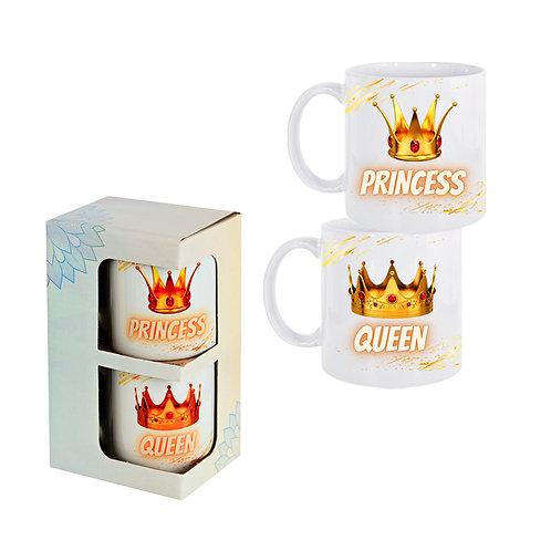 """Комплект 2 броя чаши """"PRINCESS / QUEEN"""""""