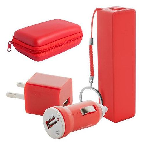 Комплект от преносима батерия и адаптери Techno