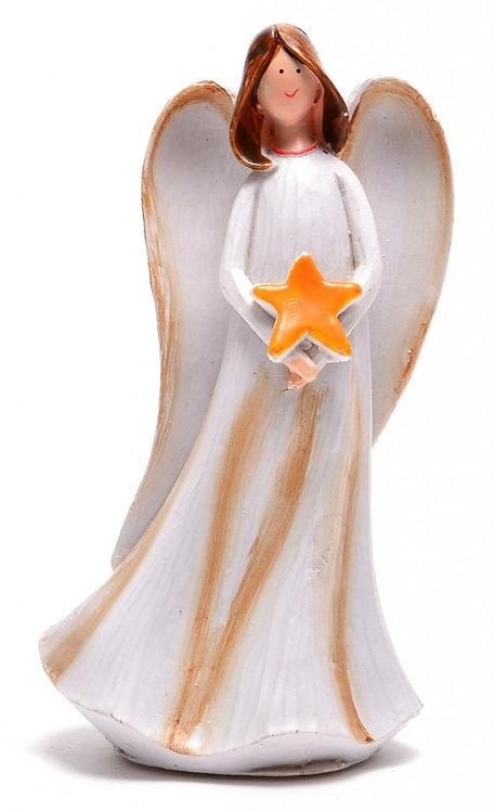 Ангел с бяла рокля и звезда