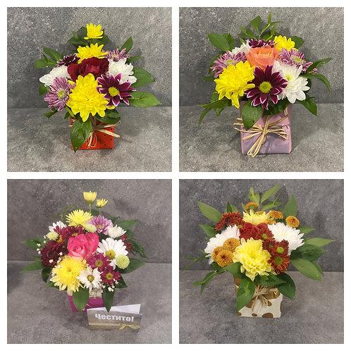 'Икебанка' / Пиафлора с аранжировка от цветя