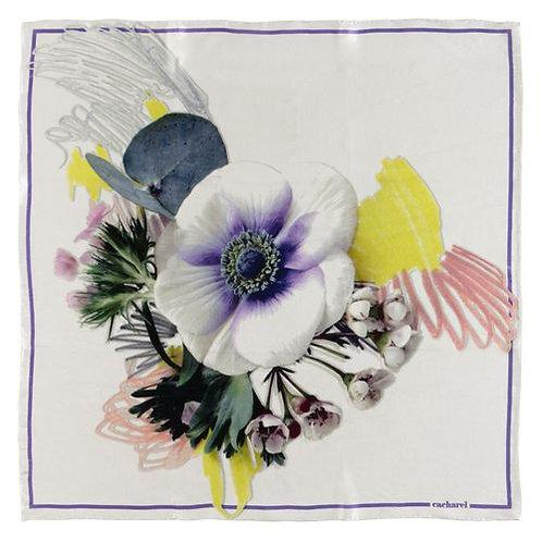 Дамски копринен шал Cacharel - Madeleine White