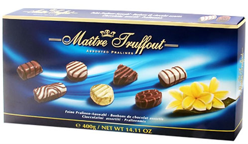 Бонбониера MAITRE TRUFFOUT PRALINES Асорти с Пълнеж - синя