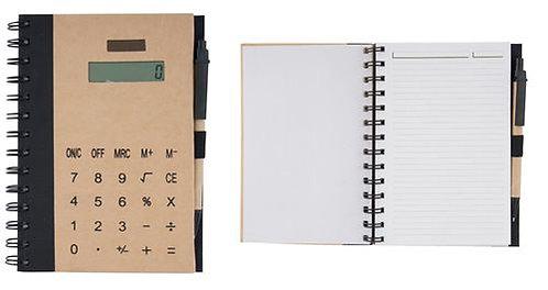 Еко бележник с калкулатор и химикалка