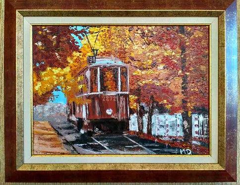 Трамвай (живопис, масло)