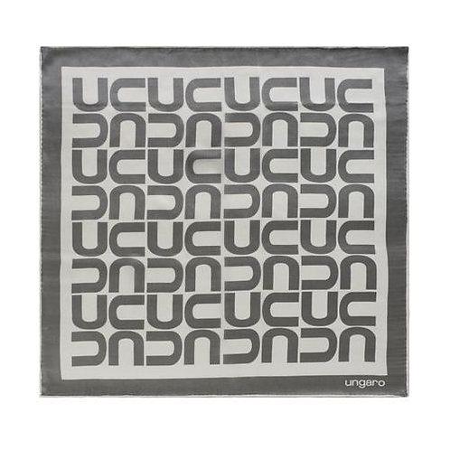 Дамски копринен шал Ungaro - GREY WHITE