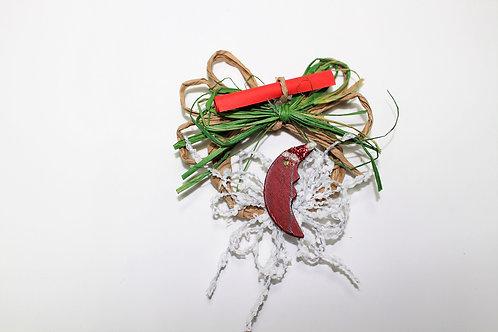 Ръчно изработена Коледна украса (текстил, В.Спасова)