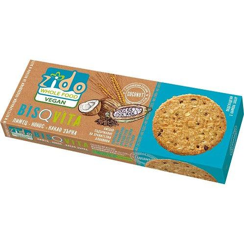 Пълнозърнести веган бисквити BISQVITA 'Zido'