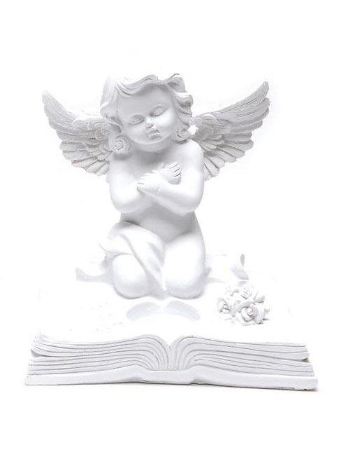 Ангел върху книга - свещник