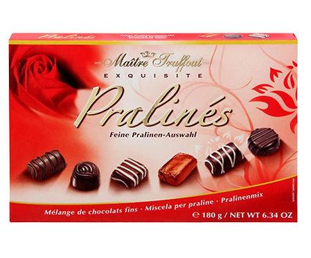 Бонбониера  MAITRE TRUFFOUT PRALINES Асорти с Пълнеж - червена