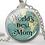 Thumbnail: Kолие с висулка WORLD'S BEST MOM в луксозна кутийка