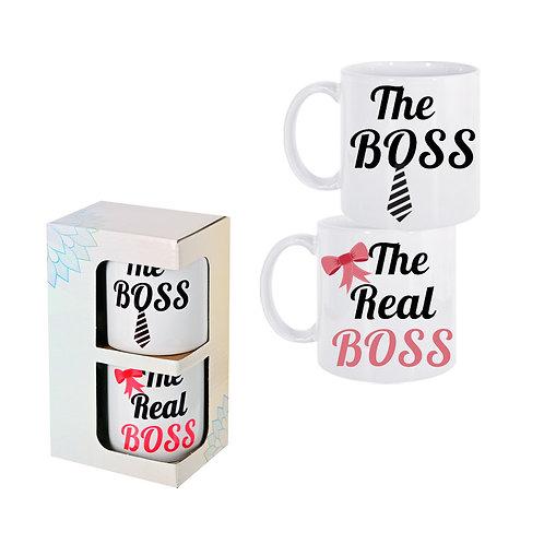 """Комплект 2 броя чаши """"The BOSS / The Real BOSS """""""