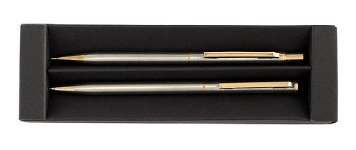 Метална химикалка и автоматичен молив 0,5 в кутия