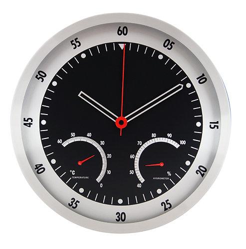 Метален стенен часовник с термометър F.Bartholdi