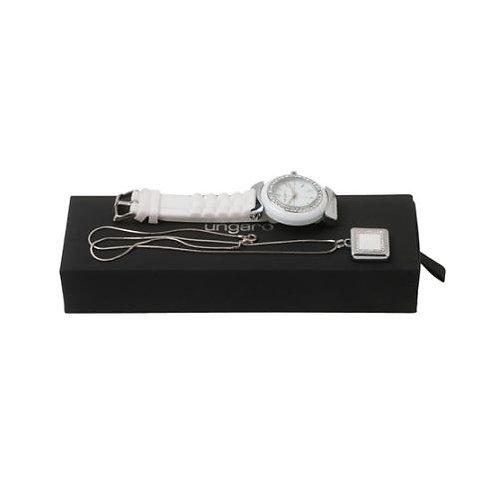 Комплект часовник и колие-USB Diadema White Ungaro