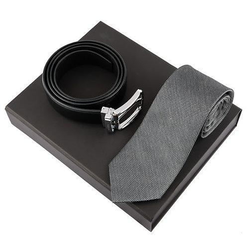 Комплект вратовръзка и колан Leone Black Ungaro