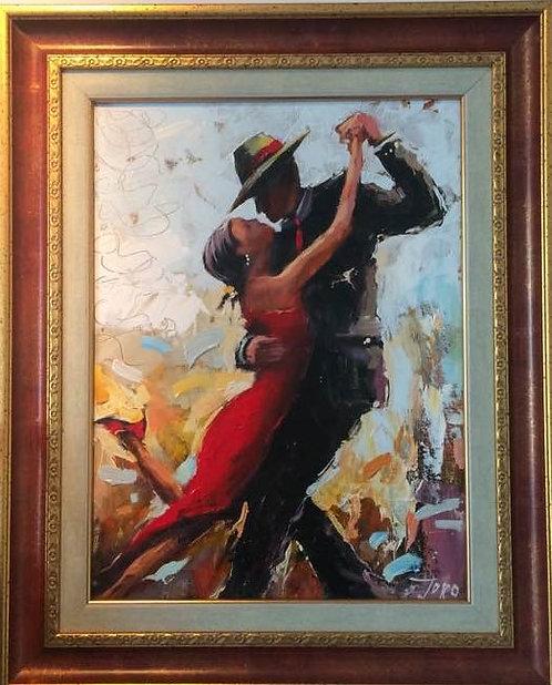 Танго  (голямо платно, живопис, масло)