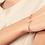 Thumbnail: Гривна с нежни сърца в луксозна кутийка